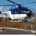 Trasladan al hospital a un trabajador tras caer de una escalera en una nave en Casarrubios del Monte