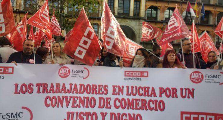 Un Black Friday para protestar por los derechos laborales de los trabajadores del comercio de Toledo