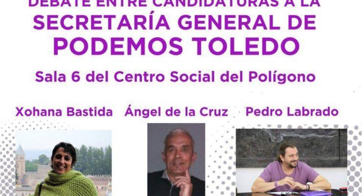 Debate entre los tres candidatos a la Secretaría General de Podemos Toledo el próximo viernes
