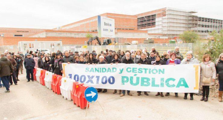 Manifestación por un nuevo Hospital de Toledo cien por cien público