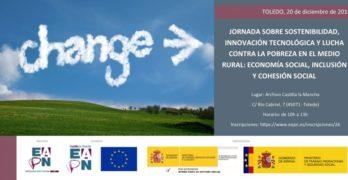 Toledo acoge este viernes una jornada sobre sostenibilidad e innovación para luchar contra la pobreza en el medio rural