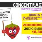 La Plataforma 8M Toledo se concentra en apoyo a las temporeras de Huelva tras archivarse una causa de acoso sexual