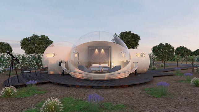 En plena naturaleza y con vistas al cielo: abre sus puertas el primer hotel burbuja de la región