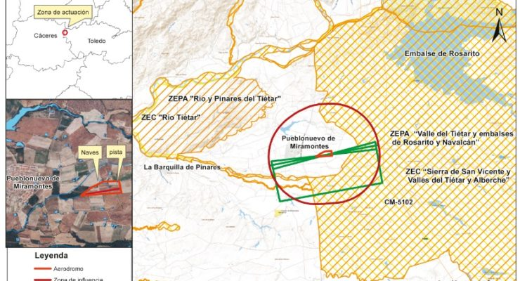 Transición Ecológica deniega la autorización ambiental simplificada a un aeródromo en Oropesa