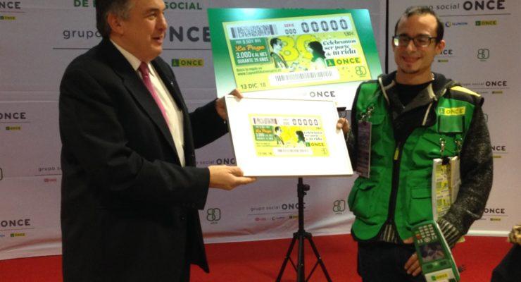 El vendedor toledano José María Carrasco protagonizará el cupón del 80 aniversario de la ONCE