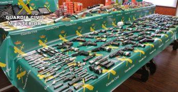 Incautan 71 armas ilegales en Borox, la mayor intervención que se lleva a cabo en la región