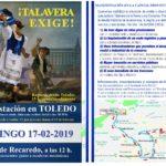 """La Mesa por Talavera lleva a Toledo su """"hartazgo"""" por """"las falsas promesas"""" y los pactos de """"tinta diluida"""""""