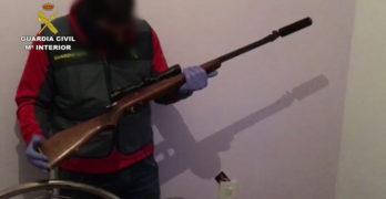 Detenidas cuatro personas en Gerindote por tráfico de drogas y tenencia ilícita de armas