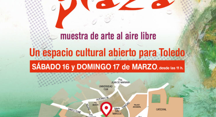 La plaza del Salvador de Toledo se convierte en un museo de arte al aire libre