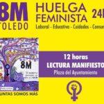 La Plataforma 8M organiza este viernes en Toledo una jornada de lucha y visibilización de las mujeres