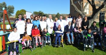 """El primer parque """"totalmente inclusivo"""" para niños de la región está en el Hospital de Parapléjicos de Toledo"""