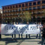 """""""Que suban los sueldos, no la temperatura"""", Toledo protesta contra el cambio climático"""