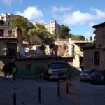 Derriban un edificio con valor patrimonial de la calle Alfonso VI por un supuesto peligro de derrumbe