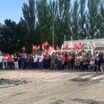 Toda la plantilla de ICSA secunda la primera jornada de huelga
