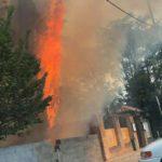 Tercer incendio en tres días en Toledo: arde la zona del antiguo camping del circo romano