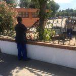Destrozan la estructura que adorna la entrada del Ferial de Talavera