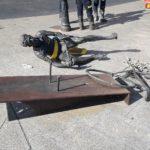 GALERÍA | Destrozan la escultura de Bahamontes en Toledo