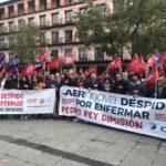 """Manifestación contra el """"despido por enfermedad"""": """"Prevalece la libertad de las empresas por encima de la de los trabajadores"""""""