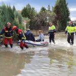 Desalojadas unas 20 personas en Yeles tras desbordarse el arroyo Guatén