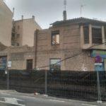 Derriban el edificio de Maderas Viana en el Paseo de la Rosa para construir 56 viviendas eficientes