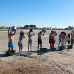 GALERÍA | Remojón reivindicativo contra la sequía en Villafranca para recibir al nuevo año