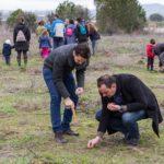 Más de un centenar de personas plantan 5.000 bellotas en Talavera la Nueva