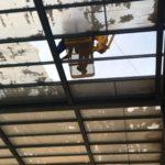 Arrancan las obras para reparar la cubierta de la piscina del JAJE de Talavera