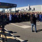 """""""Masiva concentración"""" de los trabajadores de Airbus en Illescas contra los despidos anunciados"""