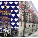 'Enamórate de Distrito 1': comercios y calles del Casco se llenan de corazones para celebrar San Valentín
