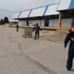 Se intensifica la labor de desinfección en MercaTalavera, mayorista de distribución de alimentos frescos