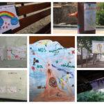 'Nos respetamos y nos cuidamos', los dibujos que ilusionan los paseos del alumnado del CEIP San Lucas y María de Toledo
