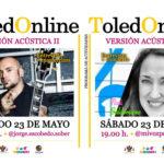 El guitarrista Jorge Escobedo, de Sober, y la cantante Nati Baldominos, este sábado en 'ToledOnLine'