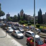 Cientos de coches se suman en Toledo y Talavera a la manifestación convocada por Vox en contra del Gobierno