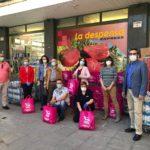 La Asociación de Comercio y Hostelería de Santa Teresa dona 1.500 kilos de alimentos a familias vulnerables de Toledo