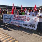 Nueva jornada de manifestaciones en las sedes de Airbus