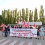 Toda la plantilla de Eulen subcontratada en ICSA de Toledo secunda la primera de las diez jornadas de huelga