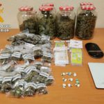 Dos detenidos en Mora tras desmantelar puntos de venta de marihuana y cocaína