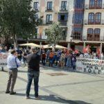 """Protesta contra los despidos planteados por Airbus: """"Han decidido transformar los ERTE en ERE"""""""