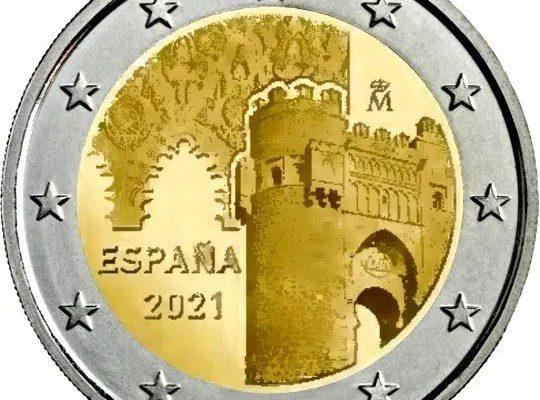 moneda 2 euros Toledo