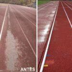 Así luce la renovada pista de atletismo del Polígono de Toledo