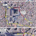 Habilitan un circuito peatonal entre Zocodover y la plaza de la Magdalena para evitar aglomeraciones en festivos