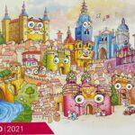 Una ilustración de Toni Reollo sobre Toledo protagoniza el mes de junio del calendario de Soliss Seguros