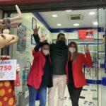 La Caprichosa y La Rama de la Suerte reparten grandes premios de la Lotería de Navidad en Toledo