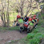Rescatan a una mujer que se fracturó el fémur al caerse en la zona del arroyo de La Degollada
