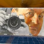 Quintanar de la Orden homenajea con un mural a su fotógrafo 'Angelote'