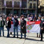 """Los líderes nacionales de UGT y CCOO en Toledo: """"El problema de la ciudadanía no es cuánto tiempo tarda el PP de Madrid en comerse a Ciudadanos, sino el empleo o la pandemia"""""""
