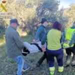 Rescatan a una mujer que se rompió el tobillo mientras hacía senderismo en un paraje de La Estrella