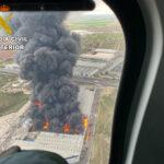 Se suspenden las clases presenciales en Seseña nuevo por el incendio en el que se sigue trabajando