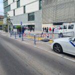 Trabajan en el acondicionamiento de la parada de taxi en la estación de autobuses de Talavera