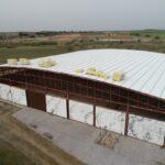 Obras en la cubierta del edificio de la Villa de Materno de Carranque para preservar los mosaicos romanos